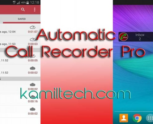 Automatic Call Recorder for Android | kamiltech.com